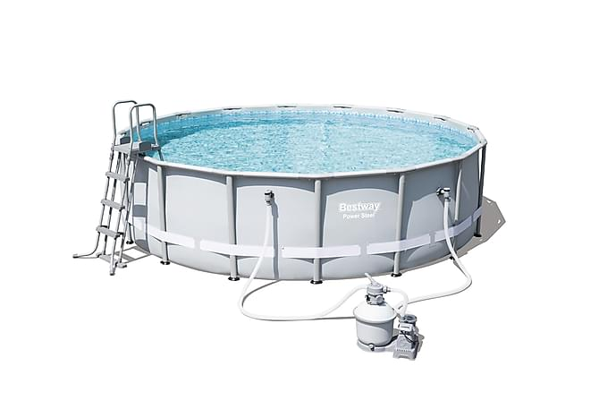 Power steel frame pool set rund 488x122cm for Pool set rund