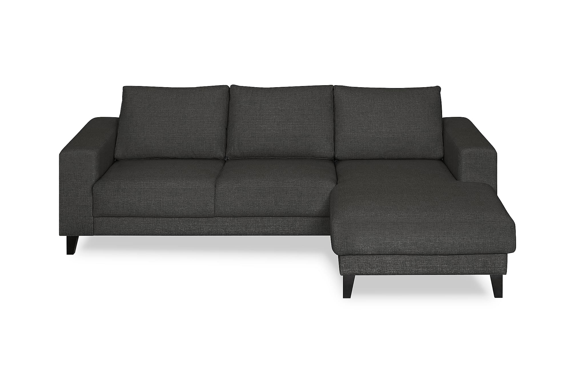 Austin sofa med chaiselong h jre m rkegr for Sofa 3 cuerpos casanova austin