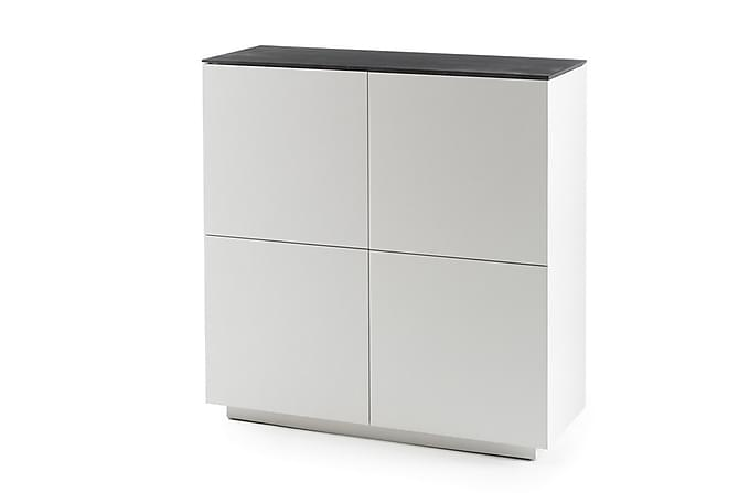 Highboard windsor vit mattlack med stenimitation for Highboard 50 cm tief