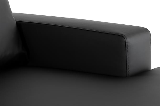 crazy u sofa xxl venstre svart pu. Black Bedroom Furniture Sets. Home Design Ideas